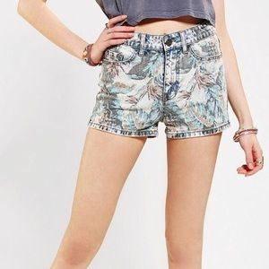 Urban Outfitters High Rise Erin Floral Shorts BDG